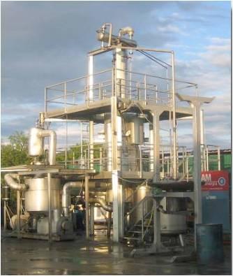 Отработанное масло производства